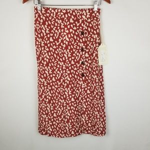 NWT Band Of Gypsies Love Her Madly Printed Skirt